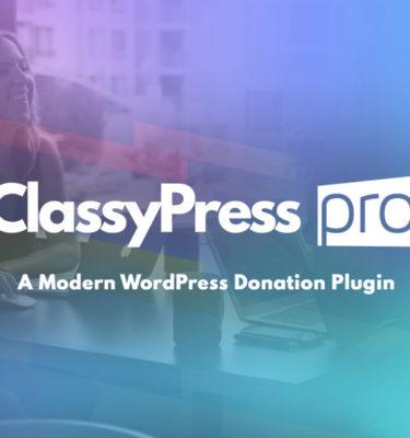 ClassyPress PRO by Mittun - Modern WordPress Donation Plugin