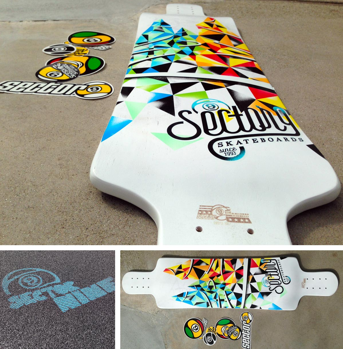 Sector 9 deck won by Shane Hernandez at B4BC Skate The Coast 2013 Pre Party
