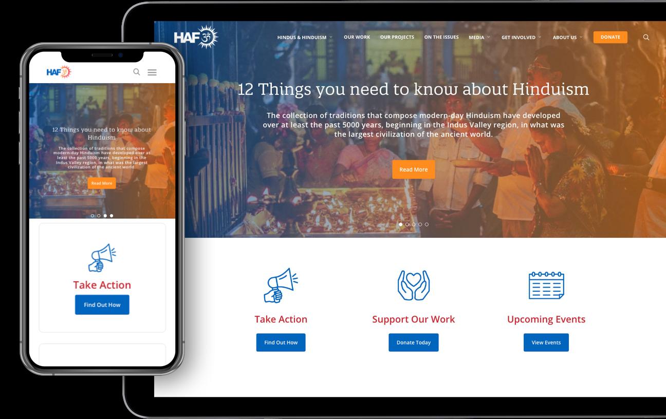 Mittun Premium Nonprofit Websites - Laptop Mockup